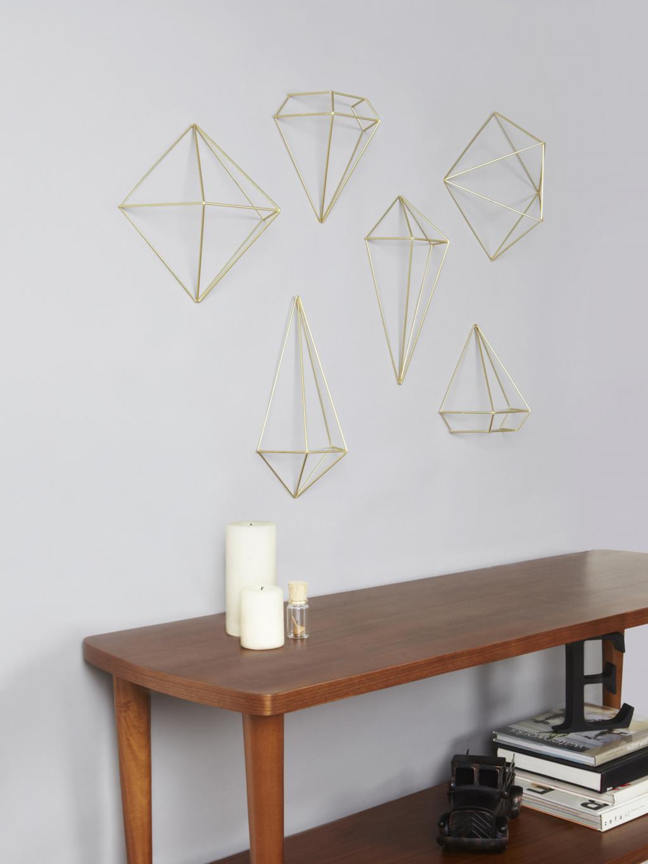 wanddecoratie prisma goud umbra lilnl